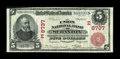National Bank Notes:Pennsylvania, Scranton, PA - $5 1902 Red Seal Fr. 589 The Union NB Ch. # (E)8737....