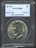Eisenhower Dollars: , 1971-D $1 MS66 PCGS. Mintage: 68,587,424. The latest Coin ...