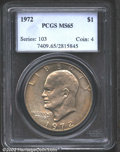 Eisenhower Dollars: , 1972 $1 MS65 PCGS. Mintage: 75,890,000. The latest Coin World ...