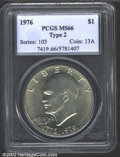 Eisenhower Dollars: , 1976 $1 Type Two MS66 PCGS. Mintage: 113,318,000. The latest ...
