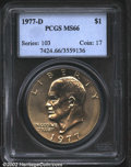 Eisenhower Dollars: , 1977-D $1 MS66 PCGS. Mintage: 32,983,006. The latest Coin ...