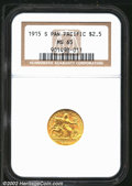 Commemorative Gold: , 1915-S $2 1/2 Panama-Pacific Quarter Eagle MS65 NGC. Mintage: ...