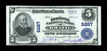 National Bank Notes:Indiana, Brazil, IN - $5 1902 Plain Back Fr. 607 The Riddell NB Ch. # 5267. ...