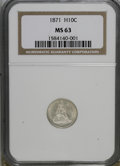 Seated Half Dimes: , 1871 H10C MS63 NGC. NGC Census: (85/154). PCGS Population (62/125).Mintage: 1,873,960. Numismedia Wsl. Price for NGC/PCGS ...