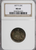 Seated Quarters, 1877-S 25C MS64 NGC....
