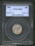 """Early Dimes: , 1807 10C MS63 PCGS. Mintage: 165,000. The latest Coin World """"T..."""