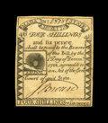 Colonial Notes:Massachusetts, Massachusetts 1779 4s/6d Extremely Fine. Another really lovely,lightly circulated Rising Sun note. The paper has some light...
