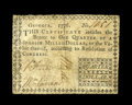 Colonial Notes:Georgia, Georgia 1776 $1/4 Fine. This note is from a scarce two notefractional issue. This example has nice signatures and edges for...