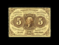 Fractional Currency:First Issue, Fr. 1229 5¢ First Issue Very Choice New. Fully perforated, withonly a few short perfs at the right. The colors are excellen...