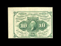 "Fractional Currency:First Issue, Fr. 1242 10¢ First Issue Gem New. The top and left margin are the wide sheet selvage, both measuring more than 1/4"". The col..."