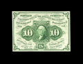 Fractional Currency:First Issue, Fr. 1243 10¢ First Issue Very Choice New. The margins are just a bit too tight for the Gem grade, but this scarce, straight-...