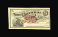 Obsoletes By State:Arkansas, Fayetteville, AR- Town of Fayetteville 25¢ 1872 Rothert 193-1. A nice example of this post-Civil war issue from Fayetteville...