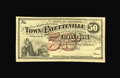 Obsoletes By State:Arkansas, Fayetteville, AR- Town of Fayetteville 50¢ 1873 Rothert 193-2. A second fractional denomination with a slightly different fa...