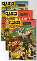 "Golden Age (1938-1955):Classics Illustrated, Classics Illustrated #69-72 and 75 First Editions Group - DavisCrippen (""D"" Copy) pedigree (Gilberton, 1950) Condition: Avera...(Total: 5)"