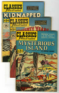 "Golden Age (1938-1955):Classics Illustrated, Classics Illustrated Group - Davis Crippen (""D"" Copy) pedigree(Gilberton, 1947-48).... (Total: 4)"