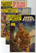 "Golden Age (1938-1955):Classics Illustrated, Classics Illustrated First Editions Group - Davis Crippen (""D""Copy) pedigree (Gilberton, 1952-53).... (Total: 5)"