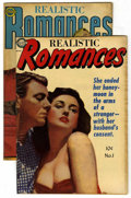 "Golden Age (1938-1955):Romance, Realistic Romances #1 and 8 Group - Davis Crippen (""D"" Copy)pedigree (Avon, 1951-52).... (Total: 2)"
