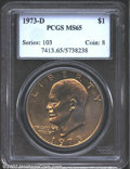 Eisenhower Dollars: , 1973-D $1 MS65 PCGS. Mintage: 2,000,000. The latest Coin World...