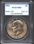 Eisenhower Dollars: , 1974 $1 MS65 PCGS. Mintage: 27,366,000. The latest Coin World ...