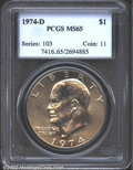 Eisenhower Dollars: , 1974-D $1 MS65 PCGS. Mintage: 45,517,000. The latest Coin Worl...