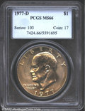 Eisenhower Dollars: , 1977-D $1 MS66 PCGS. Mintage: 32,983,006. The latest Coin Worl...