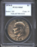 Eisenhower Dollars: , 1978-D $1 MS65 PCGS. Mintage: 33,012,890. The latest Coin Worl...