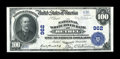 National Bank Notes:Vermont, Bethel, VT - $100 1902 Plain Back Fr. 698 The National White River Bank Ch. # 962. ...