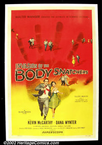 "Invasion of the Body Snatchers (Allied Artists, 1956) One sheet (27"" X 41"") One of the most important sci-fi f..."