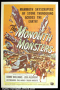 """Movie Posters:Science Fiction, The Monolith Monsters (Universal, 1957). One Sheet (27""""X41"""") Fantastic Reynold Brown artwork graces this prized science fict..."""