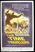"Movie Posters:Science Fiction, The Time Travelers (American International, 1964). One Sheet (27""X41"") This stunning poster was designed by the famous artis..."
