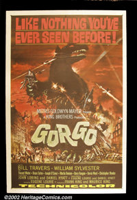 """Gorgo (MGM, 1961). One Sheet (27""""X41"""") This fine British sci-fi movie was the story of an infant sea monster b..."""