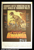 "Movie Posters:Science Fiction, Valley of the Gwangi (Warner Brothers, 1969). One Sheet (27""X41"") Based on the ""King Kong"" story by Willis O'Brien and featu..."