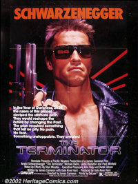 """The Terminator, (Orion, 1984). One Sheet (27""""X41"""") This wonderful science-fiction film about a cyborg sent bac..."""
