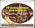 "Movie Posters:Science Fiction, It Conquered the World (American International 1956) Half Sheet (22""X28"") This great poster of the Venusian cucumber monster..."