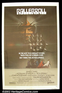 """Rollerball (United Artists 1975) One Sheet(27"""" X 41"""") and set of lobby cards(11"""" X14""""). James Caan s..."""