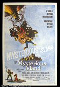 "Movie Posters:Science Fiction, Mysterious Island (United Artists, 1961). One Sheet (27""X41"") This Jules Verne story was his sequel to ""20,000 Leagues Under..."