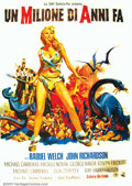 Movie Posters:Science Fiction, One Million Years B.C. (20th Century Fox 1966) Italian. Raquel Welch became an overnight sensation and one of the most popu...