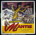 "Movie Posters:Science Fiction, The Deadly Mantis (Universal 1957) Six Sheet (81"" X 81""). The illustration on this six sheet is different and better than mo..."