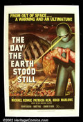 "Movie Posters:Science Fiction, Day the Earth Stood Still, The (20th Century Fox 1951) One Sheet(27""X41"") This adult science - fiction film about an ambass..."