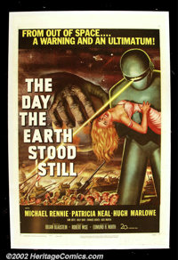 "Day the Earth Stood Still, The (20th Century Fox 1951) One Sheet (27""X41"") This adult science - fiction film a..."