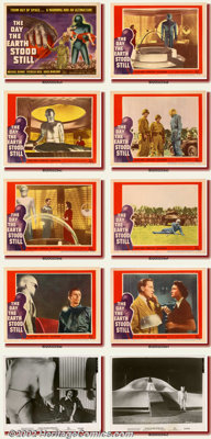 """Day the Earth Stood Still, The (20th Century Fox 1951) Lobby Card Set (11""""X14"""") This is a rare occasion to fin..."""
