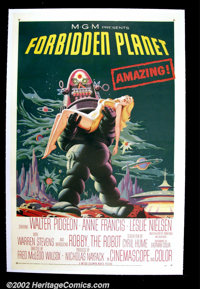 """Forbidden Planet (Loews/MGM 1956) One Sheet (27""""X 41"""") Many consider this to be one of the finest if not the f..."""