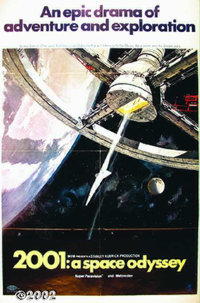 """2001: A Space Odyssey (MGM, 1968). One Sheet (27""""X41"""") Style A. Stanley Kubrick's science-fiction masterpiece..."""