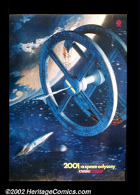 """2001: A Space Oddyssey (MGM 1968) One Sheet (23""""X33"""") Very rare 3-D poster produced for the original release o..."""