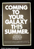"""Movie Posters:Science Fiction, Star Wars (20th Century Fox 1976) Advance One Sheet (27"""" X41"""") This is the incredibly rare advance one sheet that first aler..."""