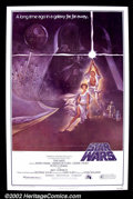 "Movie Posters:Science Fiction, Star Wars (20th Century Fox 1977) One Sheet (27"" X 41"")Style A. Near Mint / Mint. Trifolded. ..."
