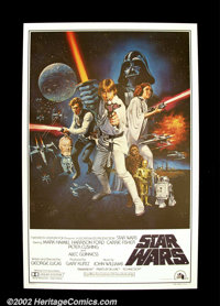 """Star Wars (20th Century Fox 1977) One Sheet (27"""" X 41"""") Style C. Although printed in the US, these posters wer..."""