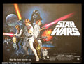 "Movie Posters:Science Fiction, Star Wars (20th Century Fox 1977) British Quad (30"" X 40"") This wonderful horizontal format poster shows all of the Chantrel..."