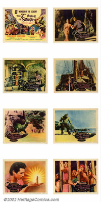 """7th Voyage of Sinbad (Columbia 1958) Lobby Card Set (11""""X14"""") This film may be special effects wizard Ray Harr..."""