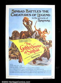 "The Golden Voyage of Sinbad (Columbia, 1974). One Sheet (27""X41"") John Philip Law is Sinbad this time out and..."